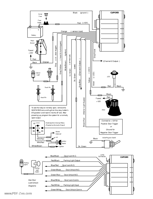 clifford electronics ace 300 wiring diagram