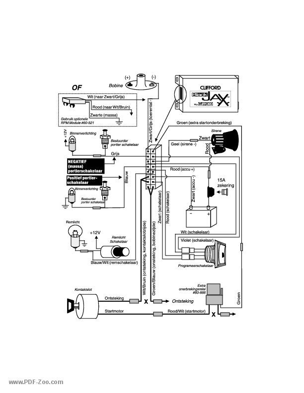 clifford electronics black jax wiring diagram  holland