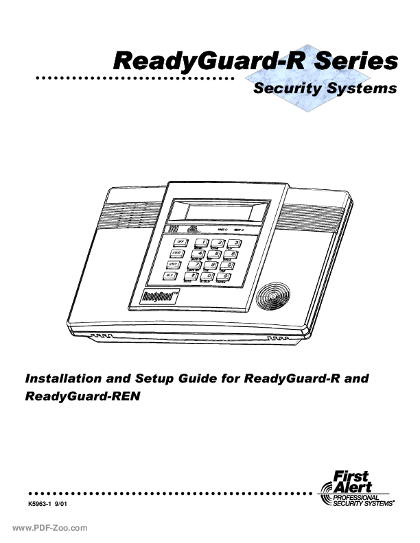 First Alert Professional ReadyGuard-R Installation Manual